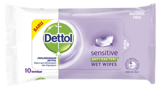 Dettol Anti Bakteri Wet Wipes Sensitive (10 lembar)